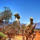 Apple Valley CA Dinos by Herman Hodges