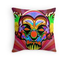 Creepy Clown Throw Pillow