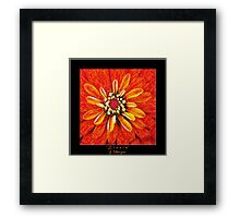 Zinnia In Colored Pencil Framed Print