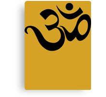 "Yoga ""Om Symbol"" T-Shirt Canvas Print"