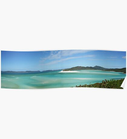Hill Inlet Panorama, Whitsundays Poster