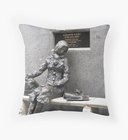 Eleanor Rigby in Liverpool Throw Pillow