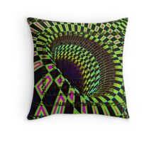 Tumblr 26 Moving Optical Illusion Psychedelic Design Throw Pillow