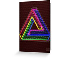 TRIFORCE Optical Illusion Impossible Geometry Greeting Card