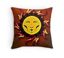 Psychedelic Star Character Icon Throw Pillow