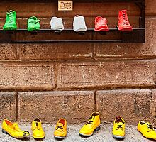 Shoe Shop in Montepulciano, Italy by Hugh Smith