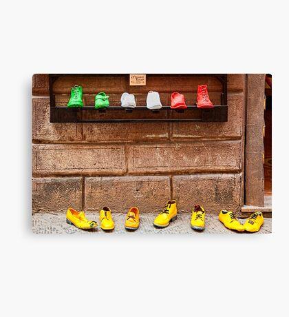 Shoe Shop in Montepulciano, Italy Canvas Print