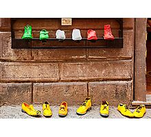 Shoe Shop in Montepulciano, Italy Photographic Print