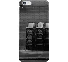 Parked Chairs iPhone Case/Skin