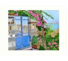 The Blue Gate Art Print