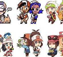 pokemon Evolution of Generations of players by keichi