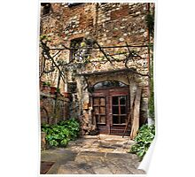 Door at the Entrance to Montepulciano Poster