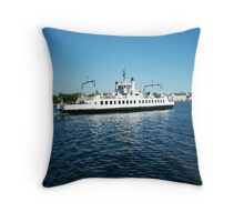 Wolf Islander III FERRY BOAT KINGSTON ONTARIO CANADA ..VERSION TWO >> PICTURE,PILLOWS,TOTE BAGS ECT.. Throw Pillow