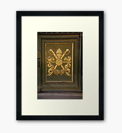 Coat Of Arms Door Framed Print