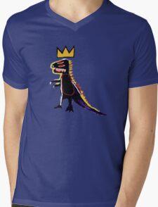 Basquiat Dinosaur Mens V-Neck T-Shirt