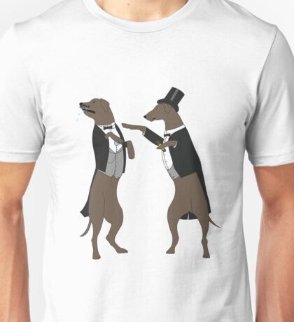 i challange you to a dual. Unisex T-Shirt