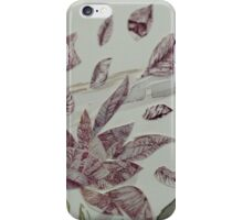Nature leaves and trees mixed media iPhone Case/Skin