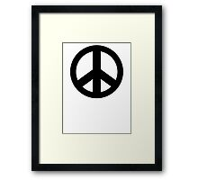 Peace Sign Symbol T-Shirt Framed Print