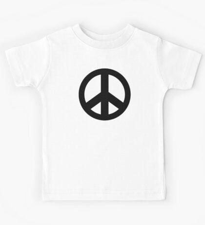 Peace Sign Symbol T-Shirt Kids Tee