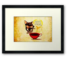 What my #Coffee says to me - May 13, 2015 Framed Print