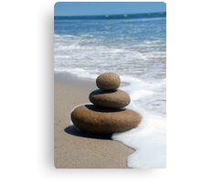 Brown Zen Stone Stack Canvas Print
