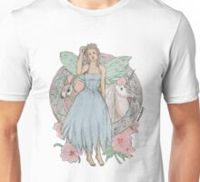 Blue Fairy Illustration Unisex T-Shirt