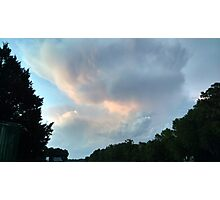 First from last night's sunset - a cumulus study Photographic Print