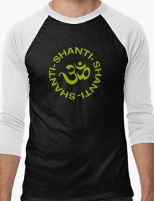 Yoga Shanti Shanti Shanti Om Yoga T-Shirt Men's Baseball ¾ T-Shirt