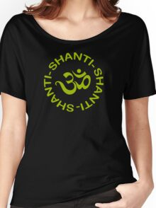 Yoga Shanti Shanti Shanti Om Yoga T-Shirt Women's Relaxed Fit T-Shirt
