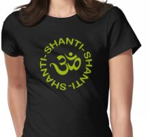 Yoga Shanti Shanti Shanti Om Yoga T-Shirt Womens Fitted T-Shirt