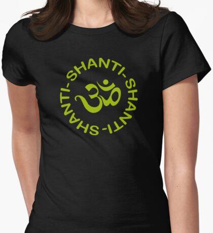 Yoga Shanti Shanti Shanti Om Yoga T-Shirt Womens Fitted T-Shirt
