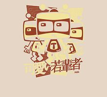 TV Mascot Stencil Womens Fitted T-Shirt