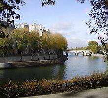 Ile-St-Louis from Across the Seine by Robert Arconti