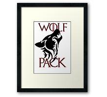wolf pack new 2 Framed Print