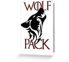 wolf pack new 2 Greeting Card