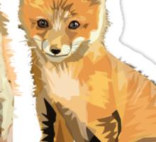 fox pups Sticker