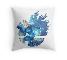 Smash Zero Suit Samus Throw Pillow