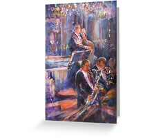 Dance Band - Music Art Gallery Greeting Card