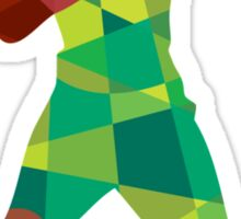 Basketball Player Ball In Action Low Polygon Sticker