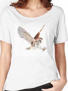 Barn Owl in Flight Women's Relaxed Fit T-Shirt