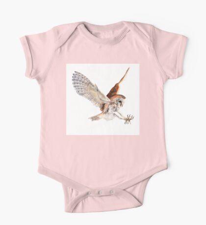 Barn Owl in Flight One Piece - Short Sleeve