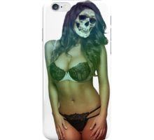 zombie dead funny girl brunette bikini summer wedding party sexy white skull halloween scary monster alien iPhone Case/Skin