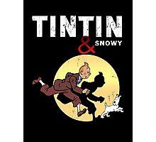 Tintin and Snowy Photographic Print