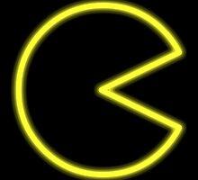 Neon Pac-Man by davidjonesart