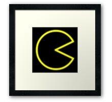 Neon Pac-Man Framed Print
