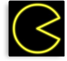 Neon Pac-Man Canvas Print