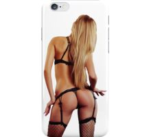 Ocean girl blonde bikini summer wedding party sexy white iPhone Case/Skin