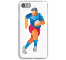 Rugby Player Running Low Polygon iPhone Case/Skin