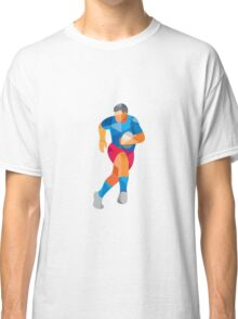 Rugby Player Running Low Polygon Classic T-Shirt
