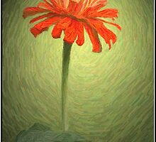 Zinnia In Colored Pencil by Julie's Camera Creations <><